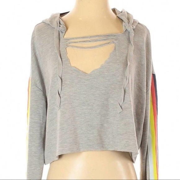 nwt Wild Fable cropped raw cut hoodie